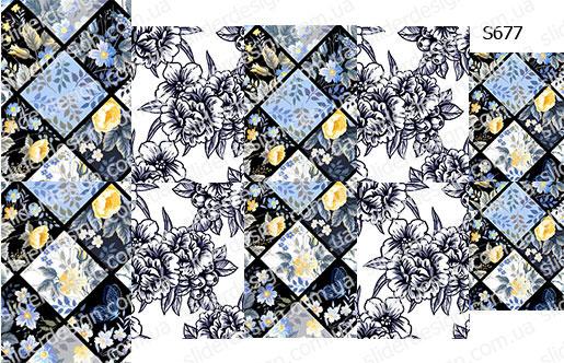 Слайдер дизайн ромбы цветы S677