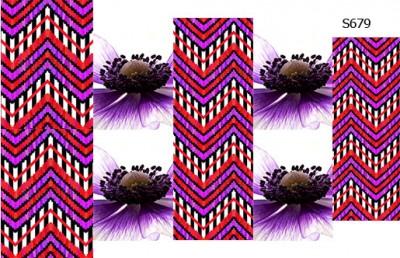 Слайдер дизайн шеврон цветок S679