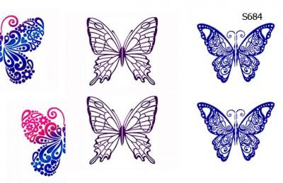 Слайдер дизайн бабочки большие S684