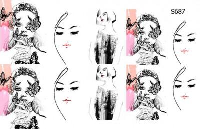Слайдер дизайн весенние девушки S687