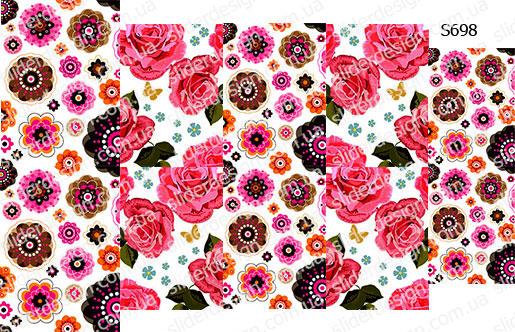 Слайдер дизайн сладкие цветы S698