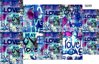 Слайдер дизайн граффити любовь S699