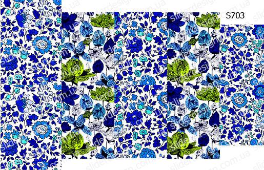 Слайдер дизайн индиго цветы S703