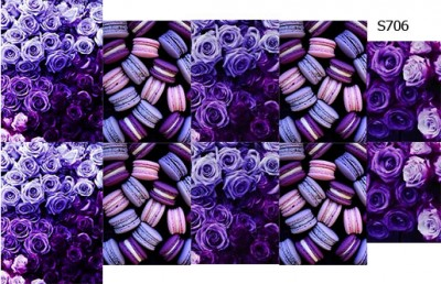Слайдер дизайн макаруны розы S706