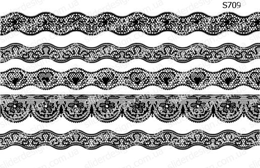 Слайдер дизайн кружевные ленты S708