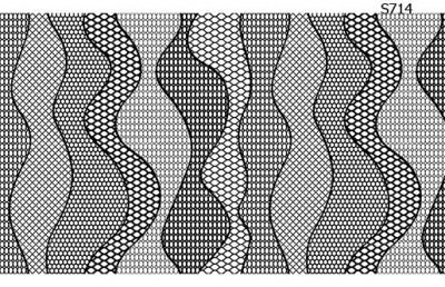Слайдер дизайн полоски из кружева S714