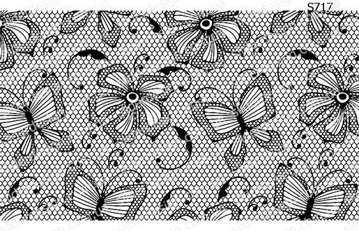 Слайдер дизайн ажурные бабочки S717