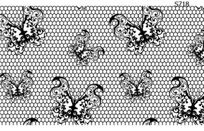 Слайдер дизайн кружевные бабочки S718