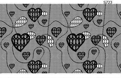 Слайдер дизайн кружевные сердечки S723
