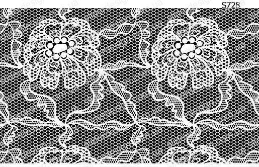 Слайдер дизайн белое кружево цветок S728