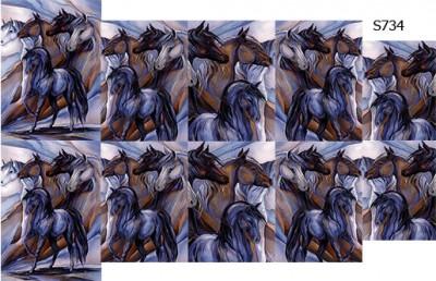 Слайдер дизайн лошади S734