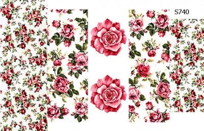 Слайдер дизайн розы микс S740