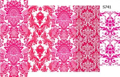 Слайдер дизайн розовый дамаск микс S741