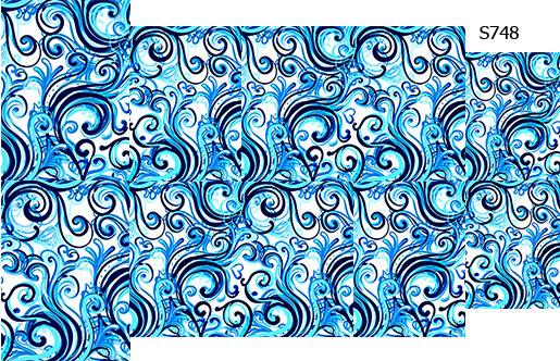 Слайдер дизайн вензеля голубые S748
