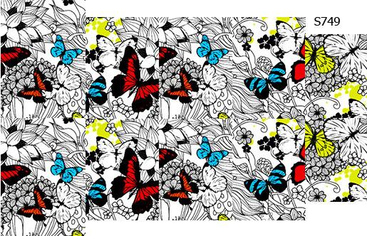Слайдер дизайн бабочки цветные+чб S749