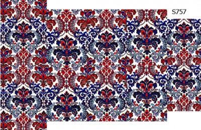 Слайдер дизайн дамаск красно-синий S756