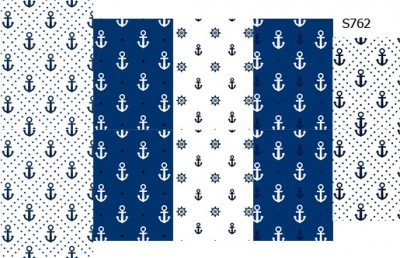 Слайдер дизайн синие якоря S762