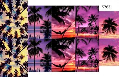 Слайдер дизайн пальмы закат S763