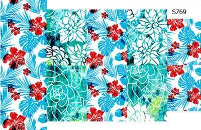 Слайдер дизайн летний принт цветы S769