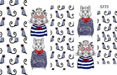 Слайдер дизайн кошки моряки S773