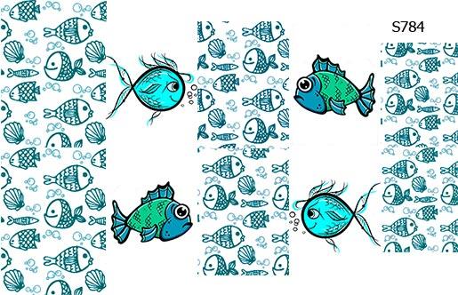 Слайдер дизайн рыбка S784