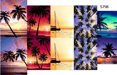 Слайдер дизайн закат на пляже S798