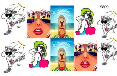 Слайдер дизайн девушки на пляже S809