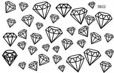 Слайдер дизайн диаманты алмазы S822
