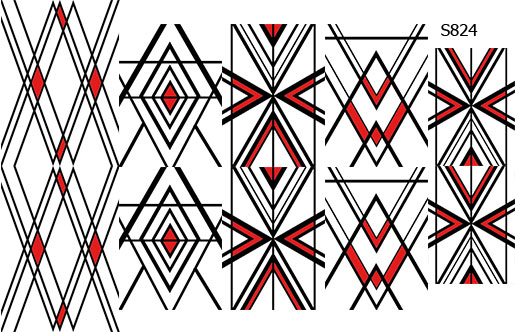 Слайдер дизайн красно-черные линии S824