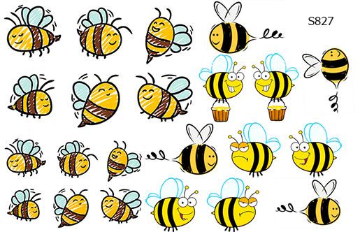 Слайдер дизайн пчелки S827