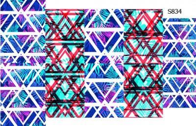Слайдер дизайн белая геометрия + пальма S834