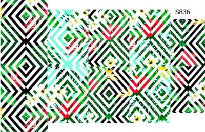 Слайдер дизайн с цветами ромбы S836