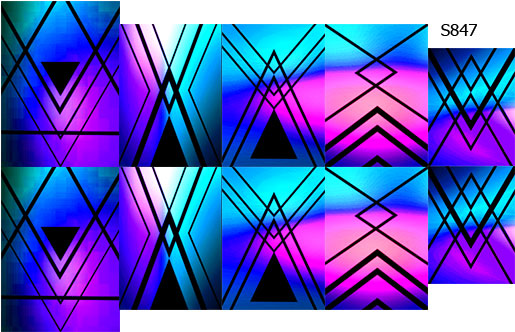 Слайдер дизайн линии и градиент синий S847