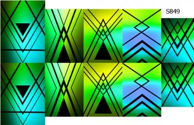 Слайдер дизайн линии и градиент зеленый S849