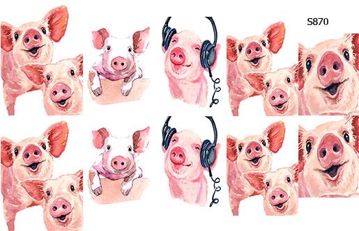 Слайдер дизайн свинки, поросята S870