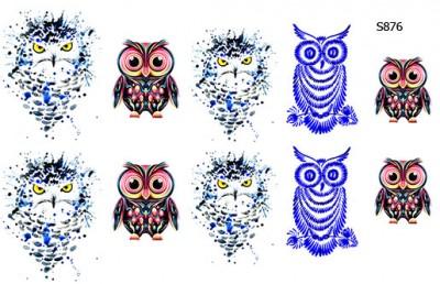 Слайдер дизайн совы рисунок S876