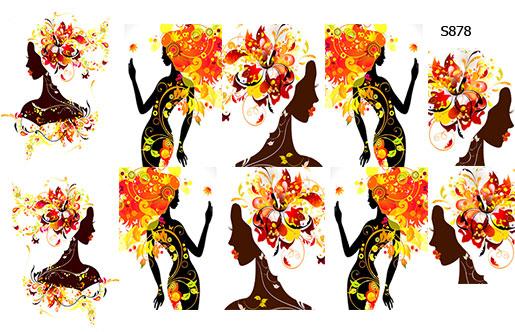 Слайдер дизайн девушка-осень S878