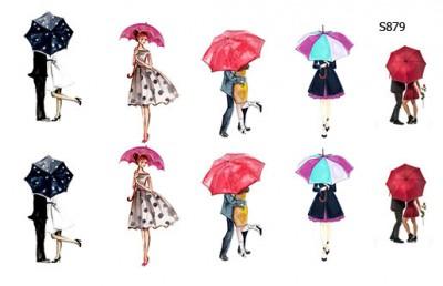 Слайдер дизайн с зонтиками S879