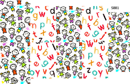Слайдер дизайн ученики, буквы, школа S881