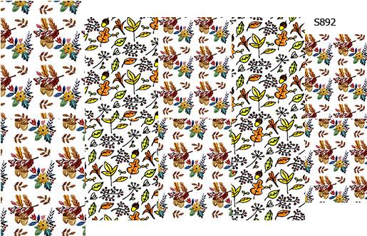 Слайдер дизайн желуди с листьями осенний S892