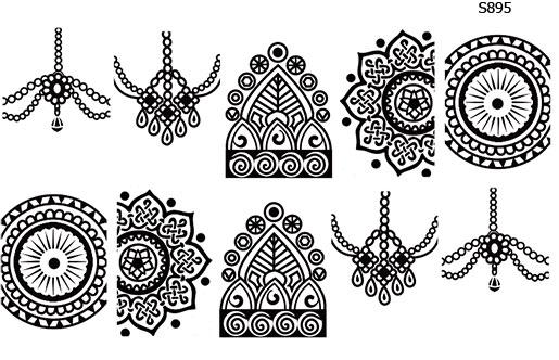 Слайдер дизайн этно, мандала, бусы, индия S895