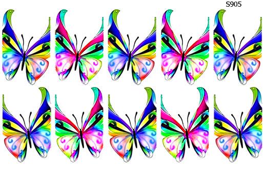 Слайдер дизайн френч бабочки S905