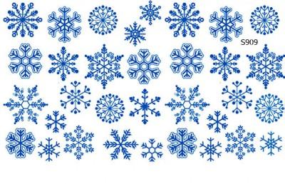 Слайдер дизайн снежинки зима S909