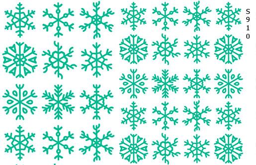 Слайдер дизайн снежинки бирюза S910