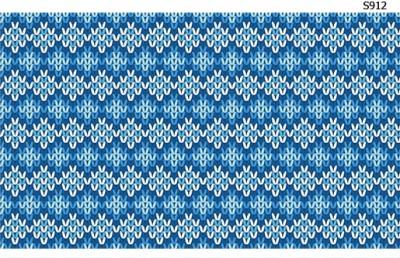 Слайдер дизайн свитер узор синий S912