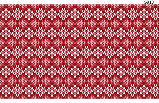 Слайдер дизайн вязаный красный S913