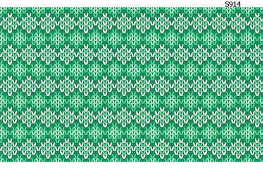 Слайдер дизайн вязаный узор зеленый S914