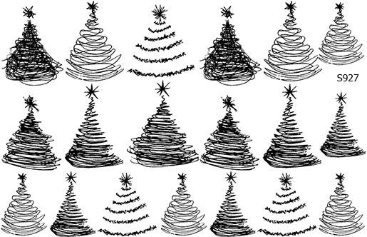 Слайдер дизайн елка рисунок от руки S927