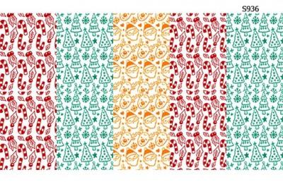 Слайдер дизайн новогодние конфетки, санта, рудольф S936