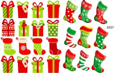 Слайдер дизайн новогодние подарки, носочки S937